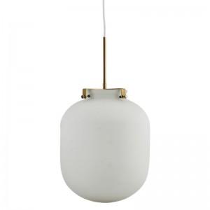 house doctor Gb0120 ball lampe suspension en verre blanche