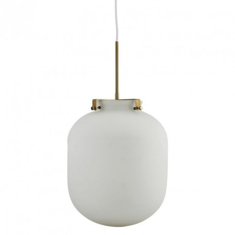house doctor Gb0120 ball lampe suspension en verre blanche