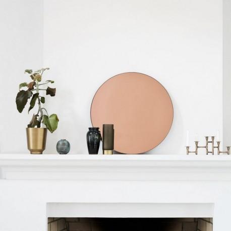 miroir mural rond rose dore cuivre Sc0301 house doctor walls 50 cm