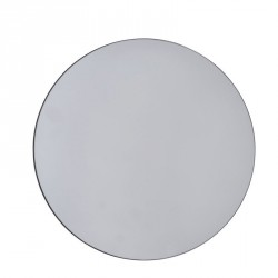 Miroir rond épuré gris House Doctor Walls D 50 cm