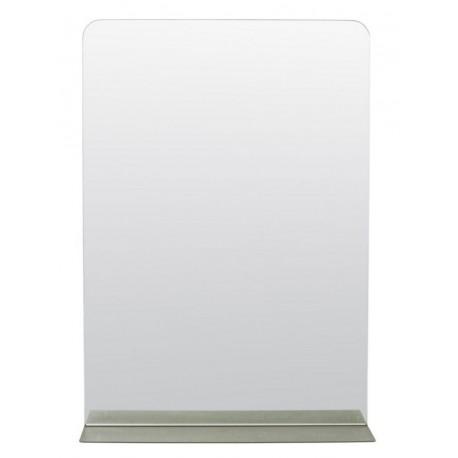 Miroir design épuré métal avec tablette House Doctor Room kaki