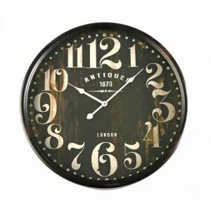 horloge murale ronde metal noir vintage versa d 50 cm
