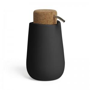 umbra kera 1005286-040 distributeur de savon design noir ceramique liege