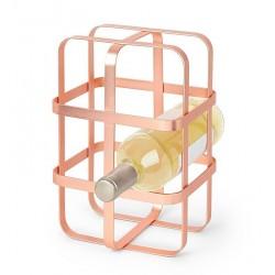 Etagère range 6 bouteilles design en métal cuivré Umbra Pulse
