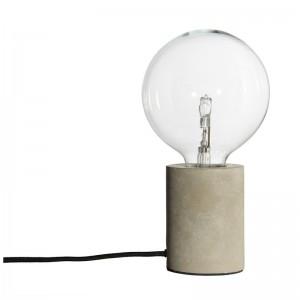 lampe de table epuree socle en beton bristol frandsen