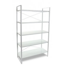 etagere design metal blanc 5 tablettes versa 10330072