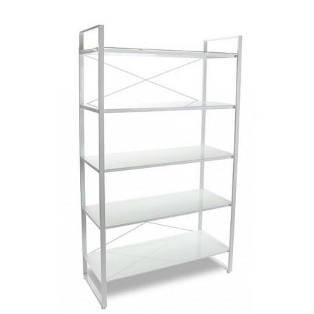 etagere design metal blanc 5 tablettes versa 10330072. Black Bedroom Furniture Sets. Home Design Ideas