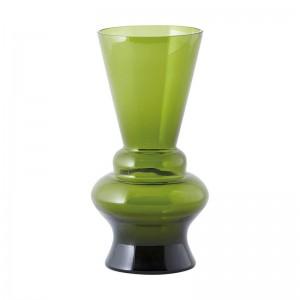 Vase en verre déco House Doctor NL vert olive