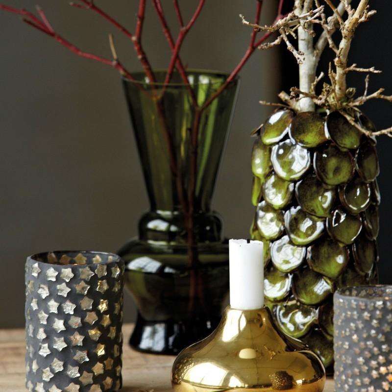 vase en verre d co house doctor nl vert olive. Black Bedroom Furniture Sets. Home Design Ideas