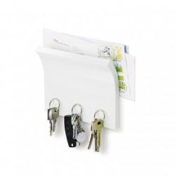 Porte clé mural design blanc magnetter umbra