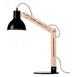 lampe de bureau industrielle metal noir et bois it s about romi melbourne