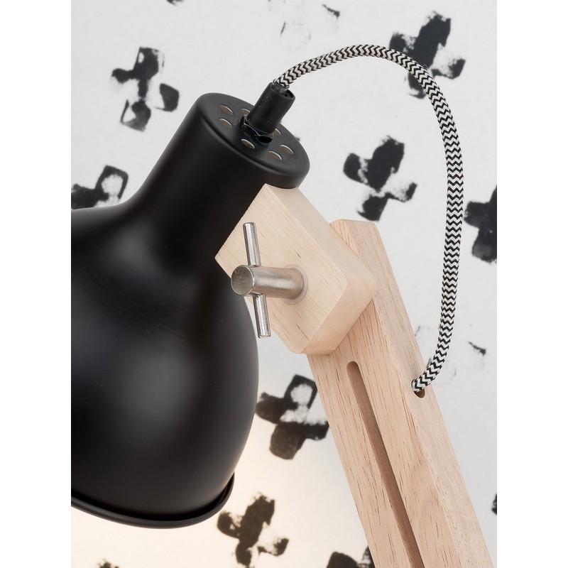 lampe de bureau industrielle metal noir et bois it s about romi melbourne. Black Bedroom Furniture Sets. Home Design Ideas