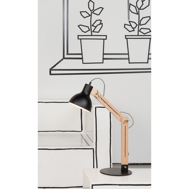 lampe de bureau industrielle metal noir et bois it s about romi melbourne. Black Bedroom Furniture Sets. Home Design Ideas