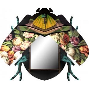 Miroir mural décoratif Miho scarabée Keith