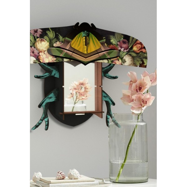 miroir mural decoratif miho scarabee keith. Black Bedroom Furniture Sets. Home Design Ideas