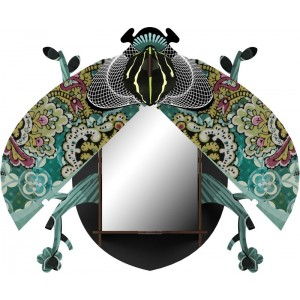 miroir mural miho scarabee decoratif charlie