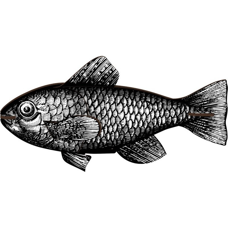 decoration murale poisson noir et blanc miho casablanca. Black Bedroom Furniture Sets. Home Design Ideas