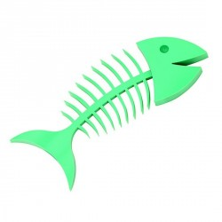 Porte savon design umbra wishbone turquoise