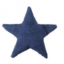 Coussin coton lavable en machine étoile bleu marine Lorena Canals