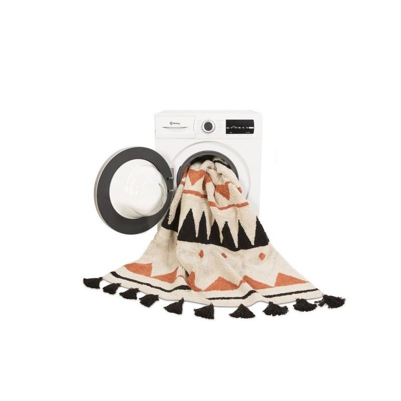 tapis lavable en machine lorena canals azteque orange 120. Black Bedroom Furniture Sets. Home Design Ideas