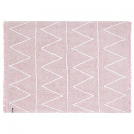 Tapis rose coton lavable en machine Lorena Canals Hippy 120 x 160 cm