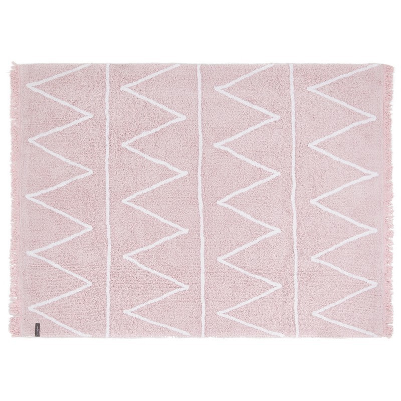 tapis rose coton lavable en machine lorena canals hippy 120 x 160 cm. Black Bedroom Furniture Sets. Home Design Ideas