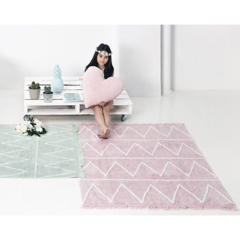 tapis rose coton lavable en machine lorena canals hippy. Black Bedroom Furniture Sets. Home Design Ideas
