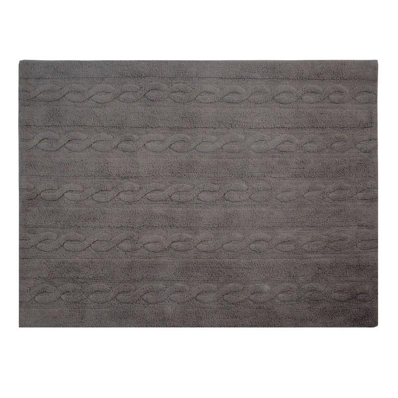 tapis gris fonce coton lavable en machine lorena canals trenzas 120 x 160 cm. Black Bedroom Furniture Sets. Home Design Ideas