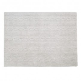 tapis gris clair lavable en machine lorena canals Trenzas 120 x 160 cm