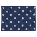 Tapis enfant bleu marine étoiles blanches lavable Lorena Canals Estrellas 120 x 160 cm