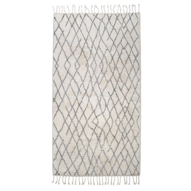 tapis antiderapant deco scandinave coton hk living 90 x 175 cm. Black Bedroom Furniture Sets. Home Design Ideas