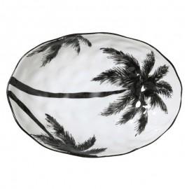 Bol de service en porcelaine HK Living Palms
