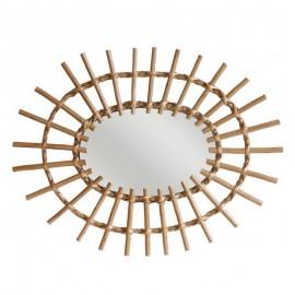 Miroir oval en rotin HK Living 60 x 45 cm