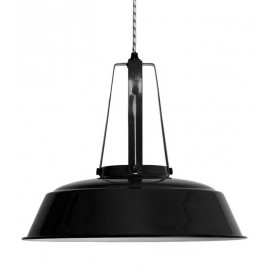 Lampe suspension industrielle métal noir HK Living Workshop