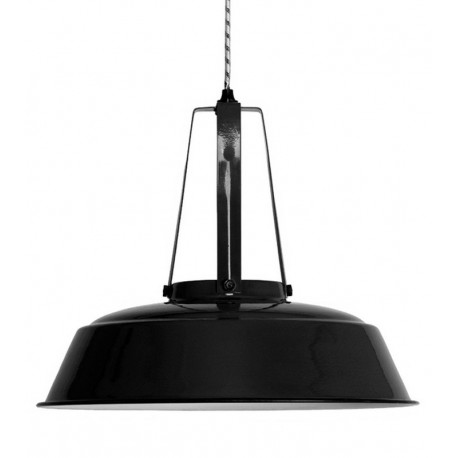 Lampe Suspension Industrielle Metal Noir Hk Living Workshop Kdesign