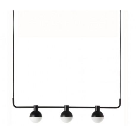 suspension horizontale design trois spots metal noir frandsen fabian