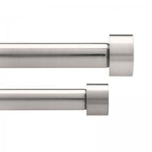 tringle a rideaux double extensible metal brosse umbra cappa 91 - 183 cm