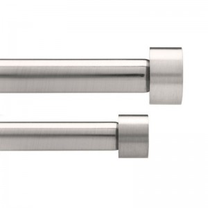 Tringles à rideaux doubles extensibles acier brossé Umbra Cappa 183 - 366 cm