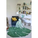 tapis feuille tropicale verte coton lavable  machine lorena canals monstera leaf