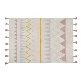 tapis enfant coton lavable machine rose ethnique aztec lorena canals