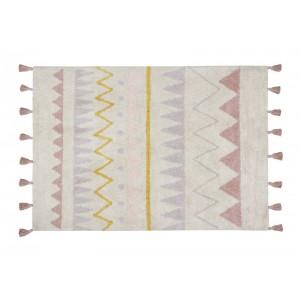 tapis enfant coton lavable machine rose ethnique aztec lorena canals