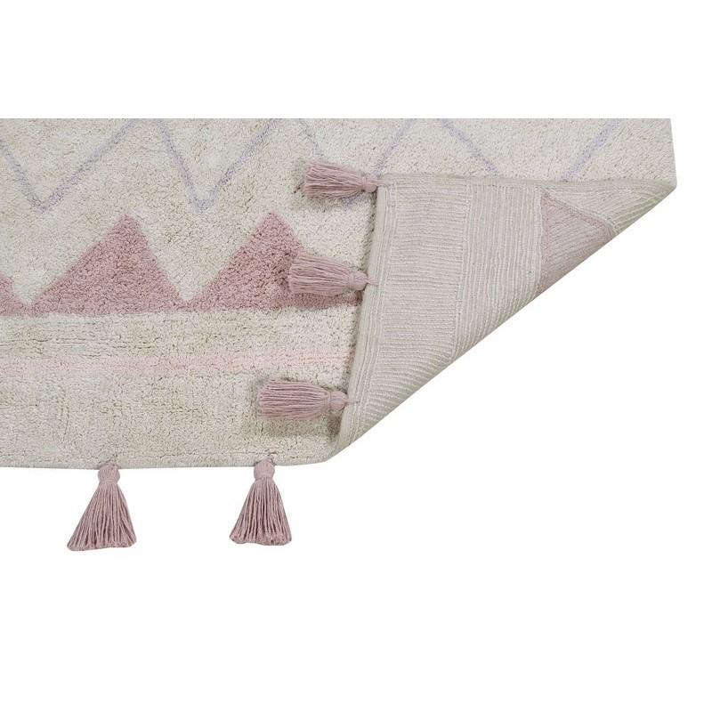 tapis enfant coton lavable machine rose ethnique aztec. Black Bedroom Furniture Sets. Home Design Ideas