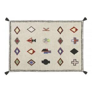 tapis lavable beige motifs lorena canals naador 140 x 200 cm