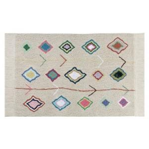 tapis lavable beige motifs lorena canals kaarol 140 x 200 cm