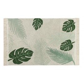 tapis vegetal lavable tropical green lorena canals 140 x 200 cm