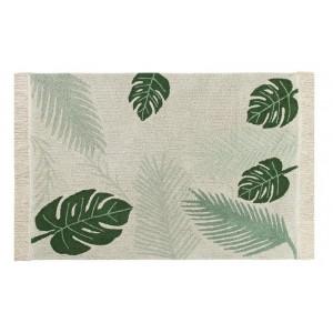 tapis vegetal lavable tropical green lorena canals 140 x 200 cm