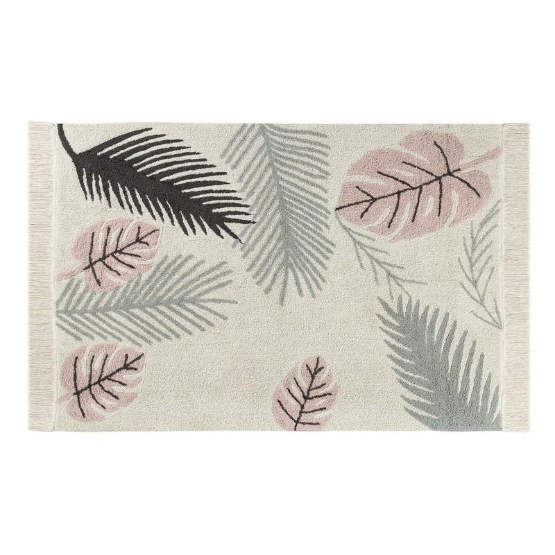 tapis lavable en machine tropical rose lorena canals 140 x. Black Bedroom Furniture Sets. Home Design Ideas