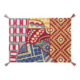 Tapis coton multicolore Indian Bag multi Lorena Canals