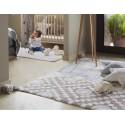 tapis coton lavable machine bleu gris indian bag lorena canals 120 x 160 cm