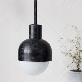 suspension vintage metal noir oxyde house doctor glow